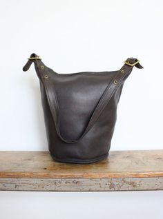 Vintage COACH Duffle Bag // NYC Feed Bucket by magnoliavintageco