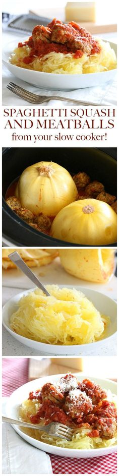 Want a healthy, low carb dinner with almost no prep work? Let your crockpot do all the cooking while you relax with this slow cooker spaghetti squash and meatball recipe