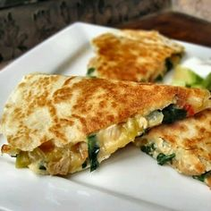 Spinach quesodillas
