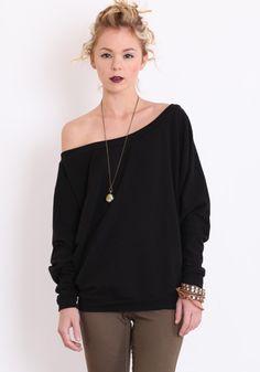 oversized black sweater $42