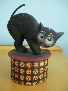 Vintage Cat Candy Container.
