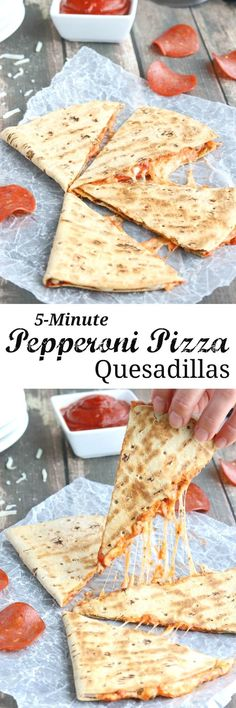 This easy Pepperoni Pizza Quesadilla recipe takes just minutes! With fiber-rich … This easy Pepperoni Pizza Quesadilla recipe takes just minutes! With fiber-rich whole grains and lots of protein, it's perfect as a quick meal or a hearty power snack! Appetizer Recipes, Snack Recipes, Dinner Recipes, Cooking Recipes, Pizza Recipes, Meat Appetizers, Dinner Ideas, Skillet Recipes, Party Appetizers