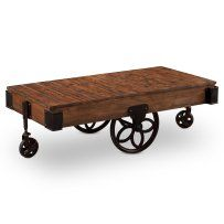 Larkin Rectangular Cocktail Table with Casters