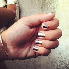 Minx brand nail stickers. Awesome mirror shine!