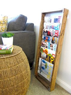 Inspired Whims: DIY Magazine Rack