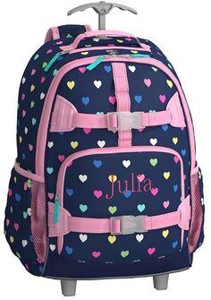 Pottery Barn Kids Mackenzie Navy Multi Heart Lunch Bags Toddler Backpack f096412f3e311