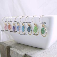 Gold Crystal Earrings Bridesmaid Gift by RhondaLynneJewelry