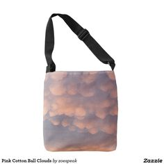 Pink Cotton Ball Clouds, Cross Body Tote Bag from ZoeSPEAK