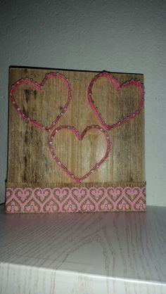String art #hearts #photeframa
