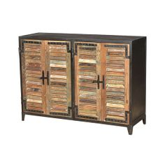 The Louvre sideboard from Four Hands is made of reclaimed wood and iron.