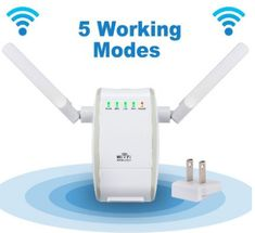 TechLife Wireless-N WiFi Range Extender/WiFi Repeater Support Four Modes, AP, Reapter, Router and Client Mode, Antennas Signal Boosters Wifi Router, Wireless Router, Ranger, Best Wifi, Cisco Networking, Wifi Extender, Wifi Antenna, Mini, Tecnologia