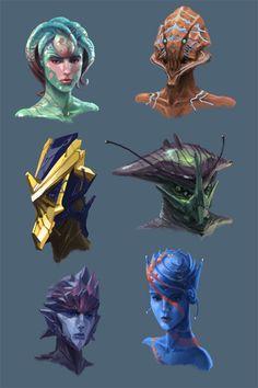 Alien Head Concepts by Phill-Art on deviantART