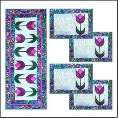 Spring Tulips Table Runner & Placemats | YouCanMakeThis.com