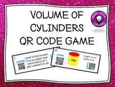 Volume of Cylinders reviews finding the volume of a cylinder using a formula given a picture, a real world situation, or measurements.
