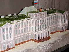 Large hall architecture cake.