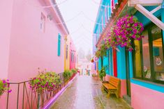 Pink Houses, Summer Colors, Wall Collage, Pastel, Kawaii, Cool Stuff, Wallpaper, Pretty, Cute