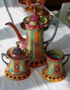 Beautiful Moroccan-style Coffee Set