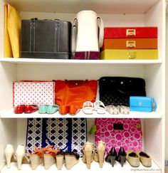 DIY Closet Organization. You don't have to spend a lot of money to get your closet organized. Utilize wall space with a closet organizer kit. Shelves.