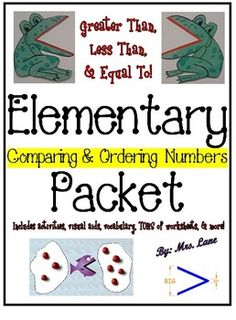 *BEST SELLER!*This packet contains TONS of fabulous items to teach and/or enrich your comparing and ordering numbers math unit. From activities and vocabulary, handouts and posters, to worksheets and assessments, and MORE! There are SOOOO MANY things to do that you can pretty much just sort through them and pick-and-choose what you want to do based upon the individual needs of your specific class and/or group of students. *Don't let the price scare you!