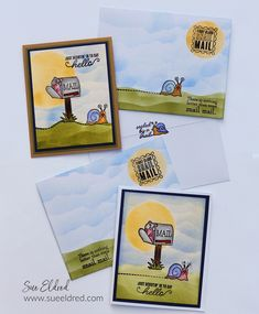 How to create simple backgrounds for stamping and cardmaking. Designed by Sue's Creative Workshop www.sueeldred.com @xyron @jointhemakersmovement #stamping #stampingtechniques Creative Workshop, Simple Backgrounds, Say Hello, Decoration, Handmade Cards, Cardmaking, Stamping, Diy, Paper Crafts