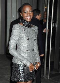 Lupita Nyong'o. I absolutely love her style.