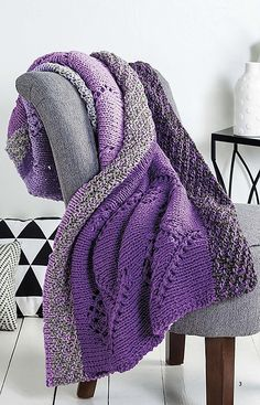 Quick Throws to Knit Knitting patterns for comfy cozy afghans to knit - affiliate link