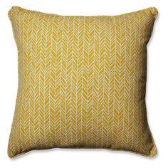 Pillow Perfect Herringbone Indoor / Outdoor Throw Pillow - Set of 2 Yellow - 610221