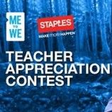 Staples Teacher Appreciation Contest