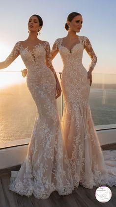 Mermaid Wedding Dress With Sleeves, Fancy Wedding Dresses, Wedding Dress Trends, Gorgeous Wedding Dress, Mermaid Dresses, Bridal Dresses, Mermaid Wedding Dresses, Lace Wedding Gowns, Wedding Attire