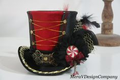 Hey, I found this really awesome Etsy listing at http://www.etsy.com/listing/156178200/women-mini-top-hat-carnival-circus-ring