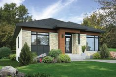 Contemporary Style House Plan   2 Beds 1.00 Baths 1081 Sq/Ft Plan #25 4453