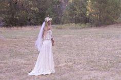 flower crown hippie veil