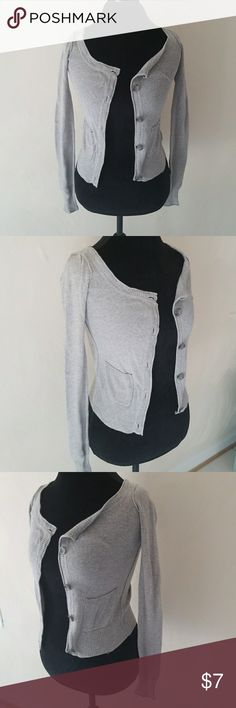 Aeropostale grey sweater Aeropostale grey button up sweatwe with side pockets Aeropostale Sweaters
