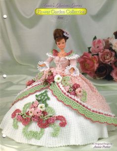 ROSE GOWN crochet patterns ANNIE'S GLORIOUS GOWNS FLOWER GARDEN COLLECTION