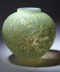 "Rene Lalique | ""Gui"" Vase 