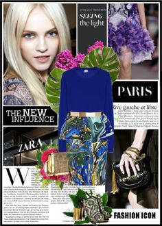 """""""Serious statement piece, printed bright and beautiful"""" by jelena-stanojevic ❤ liked on Polyvore"""