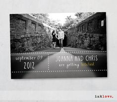 Save the Date Postcard with Envelopes by inklove.. via Etsy.