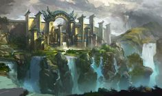 fantasy water city | water city by xiaoxinart