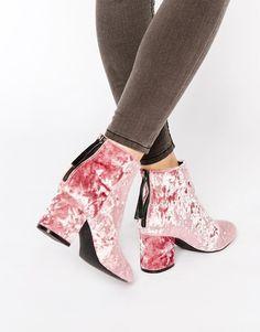 ASOS - RESIDENT - Ankle Boots - Blush Samt