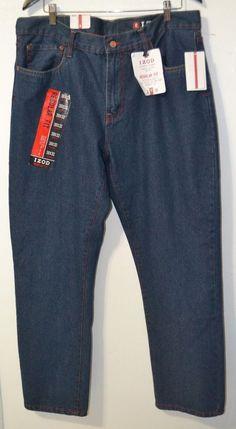 NWT IZOD Regular Fit Straight Leg Classic Fit Jeans Denim Pants Men's Size 38 #IZOD #ClassicStraightLeg