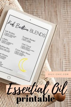 kids bed time essential oil blend printable Essential Oils For Sleep, Essential Oil Blends, Smart Strategy, Good Night Moon, Essentials, Printable, Learning, Bed, How To Make