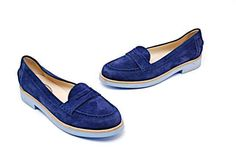 5ab98a757ac TOD S TODS Navy Suede Fashion Penny Loafers w light blue rubber sole 39 US9   Tods  LoafersMoccasins  Casual