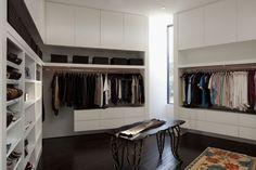 Organized open closet