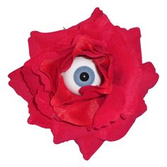 Now you can have eyes at the back of your head with these eyeball rose hairclips!   Rose measures approximately 10cm across