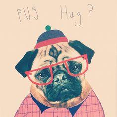 YES, PLEASE. #urbanoutfitters #pug #hug