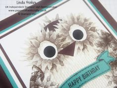 Linda Parker UK Independent Stampin' Up! Demonstrator from Hampshire @ Papercraft With Crafty : Twit Twoo - Today I have a Little Painted Harvest Owl for You !!!