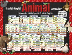 This set of Spanish and English word cards coordinates with the Spanish-English Word Wall in my store which is here: www.teacherspayteachers.com/Product/Spanish-English-Word-Wall-Set-666805.It contains 210 vocabulary cards total (105 in English and 105 in Spanish) and a blank page to add your own words for your word wall.
