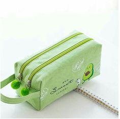 School Pencil Case, Cute Pencil Case, Pencil Pouch, Cute Avocado, Cool School Supplies, Cute Stationary, School Accessories, School Stationery, Cute Room Decor