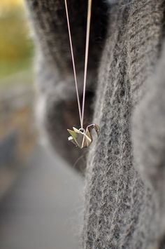 paper crane necklace!