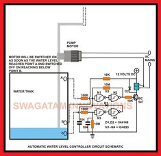 Automatic Water Level Controller Circuit Schematic | Elec Eng World
